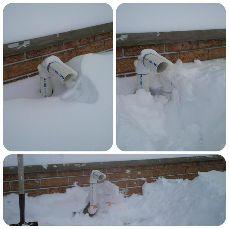 vents blocked with snow